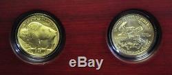 8-8-08 US Mint Double Prosperity Set 1/2oz Gold Eagle & Gold Buffalo 09DUD