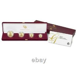 American Eagle 2021 Gold Proof Four-Coin Set 4 coins 21EF SHIPPED FROM MINT
