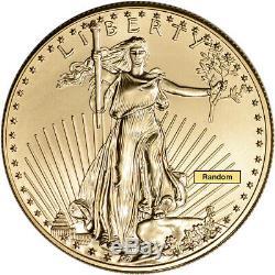 American Gold Eagle 1 oz $50 Random Date 1 Roll 20 BU Coins in Mint Tube
