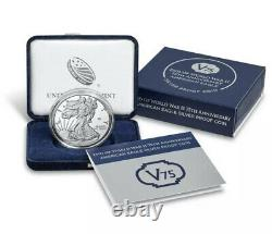American Mint End Of World War 2 75th Anniversary Eagle Silver Proof Coin Inhand