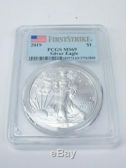 American Silver Eagle Graded MS69 Lot 34 Coins 1986 thru 2019