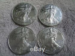 American Silver Eagle Lot 4 1 oz Coin $1 Dollar From US Mint Sealed Roll BU