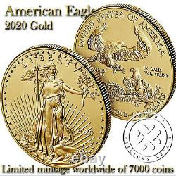 Confirmed 2020 W American Eagle Gold Uncirculated One Ounce US Mint Coin 20EH