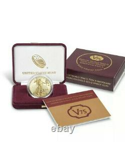 End of World War II 75th Anniversary American Eagle Gold Proof Coin MINT SEALED
