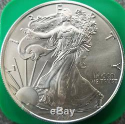 Full Roll of 20 2011 American Silver Eagles 1 Oz BU Coins in US Mint Tube