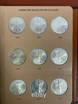Lot Of 36 Full Set Of American Silver Eagles In Dansco Album! 1986-2021 Eagles