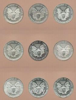 Lot Of 36 Set Of American Silver Eagles In Dansco Album! 1986-2021 GEM ASE