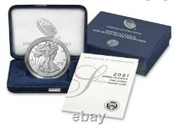 Lot Of 3, 2021W 1oz American Silver PROOF Eagle TYPE 2 Confirmed Order