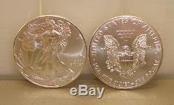 Lot of (100) 2019 1 oz. 999 Fine American Silver Eagle Bullion Coins