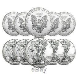 Lot of 10 2020 1 oz Silver American Eagle $1 Coin BU