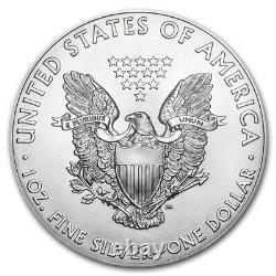 Lot of 10 2021 1 oz American Eagle. 999 Fine Silver BU Coin BRAND NEW
