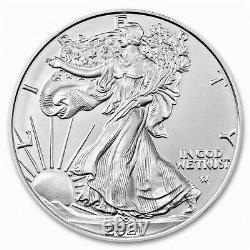 Lot of 10 Silver 2021 American Eagle 1 oz. Fine. 999 US oz Type 2 Design Coins