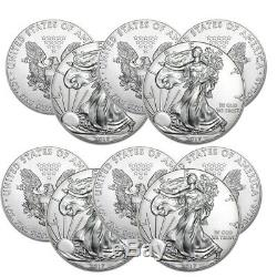 Lot of 10 Silver American Eagle Random Date 1oz. Silver US Eagle. 999 fine Coins