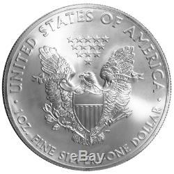 Lot of 20 $1 American Silver Eagle 1 oz Random Year Brilliant Uncirculated