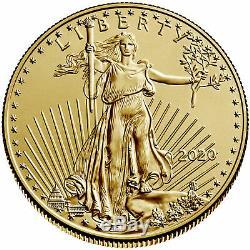 Lot of 20 2020 $50 American Gold Eagle 1 oz BU Full Roll