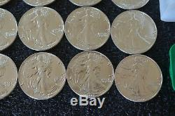 Lot of 20 Coins 1987 1 oz Silver American Eagle $1 Coin BU 1 Roll