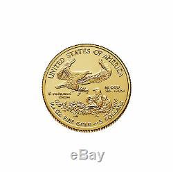 Lot of 2 2018 $5 1/10oz Gold American Eagle BU