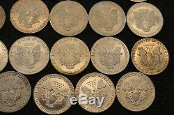 Lot of 35 American Silver Eagles full run Date 1986 to 2020 includes 1996 Roll s