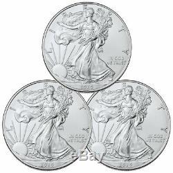 Lot of 3 2020 1 oz American Silver Eagle $1 Coins GEM BU Delay SKU59437