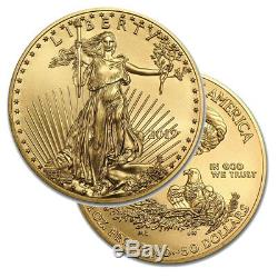 Lot of 3 Gold 2019 US 1 oz American Eagle $50 Gold Coins