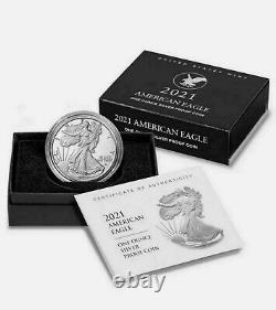 Lot of 3 New 2021-(S) American Eagle Silver Proof Coin IN HAND SHIPS IN 24HR