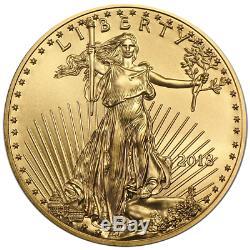 Lot of 40 2018 $10 American Gold Eagle 1/4 oz BU Full Roll