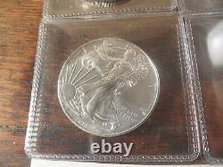 Lot of 4 2018 American silver eagle coins