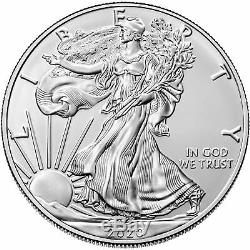 Lot of 500 2020 $1 American Silver Eagle 1 oz Brilliant Uncirculated Full Mons