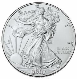 Lot of 500 2021 $1 American Silver Eagle 1 oz Brilliant Uncirculated