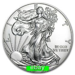 Lot of 5 2014 1 oz American Eagle. 999 Fine Silver BU Coin BRAND NEW
