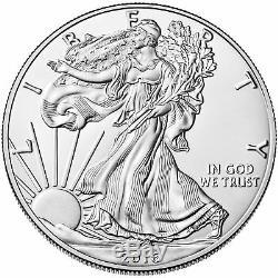 Lot of 5 2016 One Troy Oz. 999 Fine Silver American Eagle Coins BU