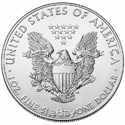 Lot of 5 2018 One Troy Oz. 999 Fine Silver American Eagle Coins BU