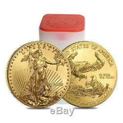 Lot of 5 2020 1 oz Gold American Eagle $50 Coin BU