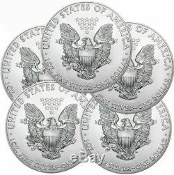 Lot of 5 2020 American Eagle Coins 1 oz. 999 Fine Silver