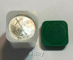 Lot of 5 BU 1 oz Silver 2007 American Eagles, 1 oz Coins. 999 Fine Silver