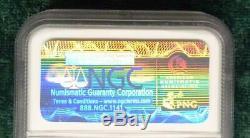 NGC Silver Eagle $1 Rev Die Impression Struck on SAND PAPER Crazy MINT ERROR