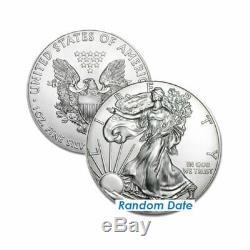 N Roll of 20 Silver American Eagle 1oz. 999 US Mint American Eagles $1 BU Coins