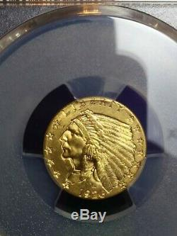 Pcgs ms64 1926 gold indian head quarter eagle us gold coin $2.50 beautiful mint