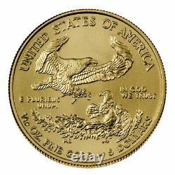 Presale Lot of 5 2021 $5 American Gold Eagle 1/10 oz Brilliant Uncirculated