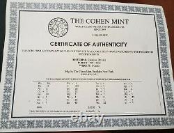 RHODIUM Eagle 1 Gram 99.9% Pure Cohen Mint