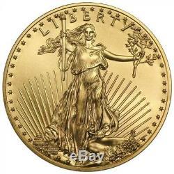 Random US Gold Eagle 1/10 oz Coin Lot of 10