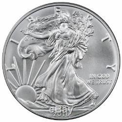 Roll of 20 2016 1 oz. 999 Fine American Silver Eagle BU Coins in Mint Tube
