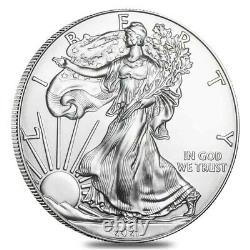 Roll of 20 2021 1 oz Silver American Eagle $1 Coin BU (Lot, Tube of 20)