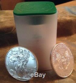 Special Sale 2020 American Silver Eagles (20) 1oz Silver Eagles Mint Roll