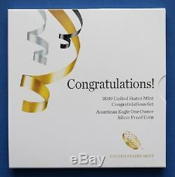 US 2019 W US Mint Congratulations Set American Eagle Silver Proof Coin (19RF)