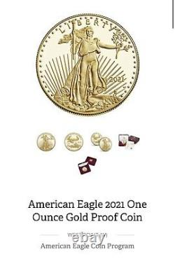 US Mint American Eagle 2021 One Ounce Gold Proof 21EB Coin Sealed