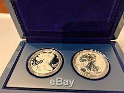 U. S. MINT 2012 AMERICAN EAGLE SAN FRANCISCO Two-Coin SILVER PROOF SET WithCOA