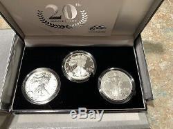 U. S. Mint American Eagle 20th Anniversary Silver Coin Set