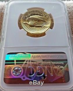 Ultra High Relief Double Eagle $20 Gold 2009 NGC MS-70 withOGP Mint Box & COA