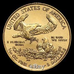 (lot Of 10 For One Bid) Ch/gem Bu 2019 1/10th Oz. $5 American Eagle Gold Coin
